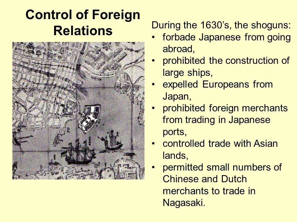 Control of Foreign Relations