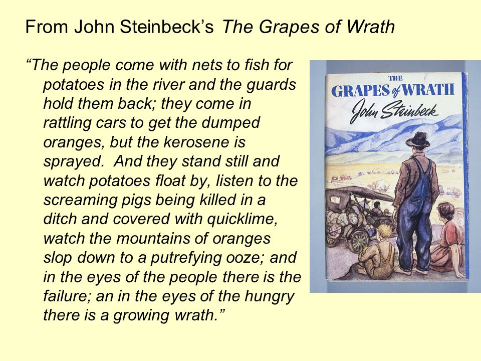 From John Steinbeck's The Grapes of Wrath