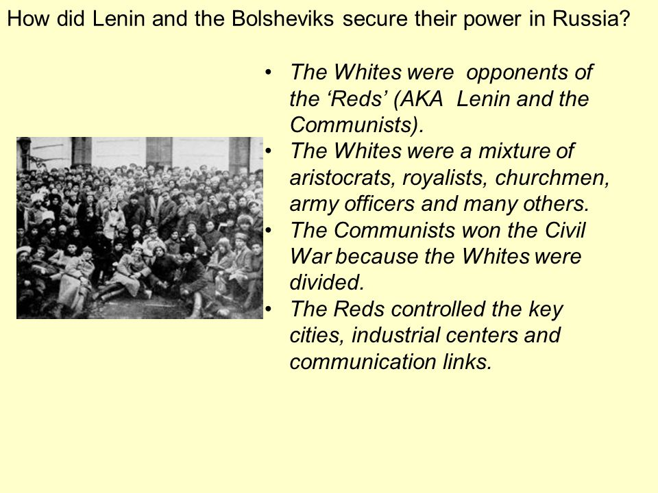 How did Lenin and the Bolsheviks secure their power in Russia