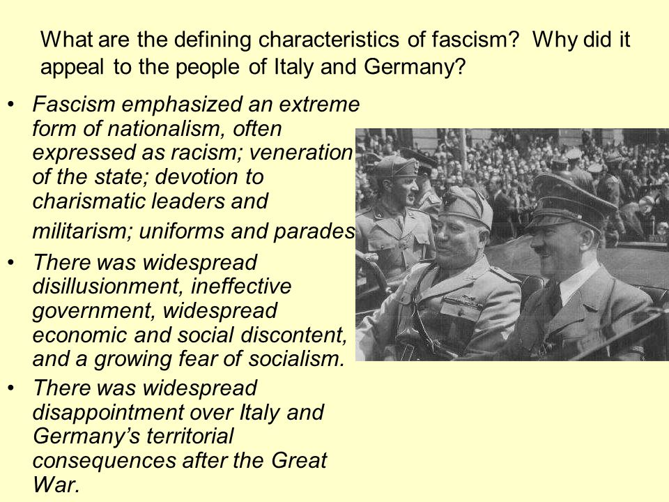 What are the defining characteristics of fascism