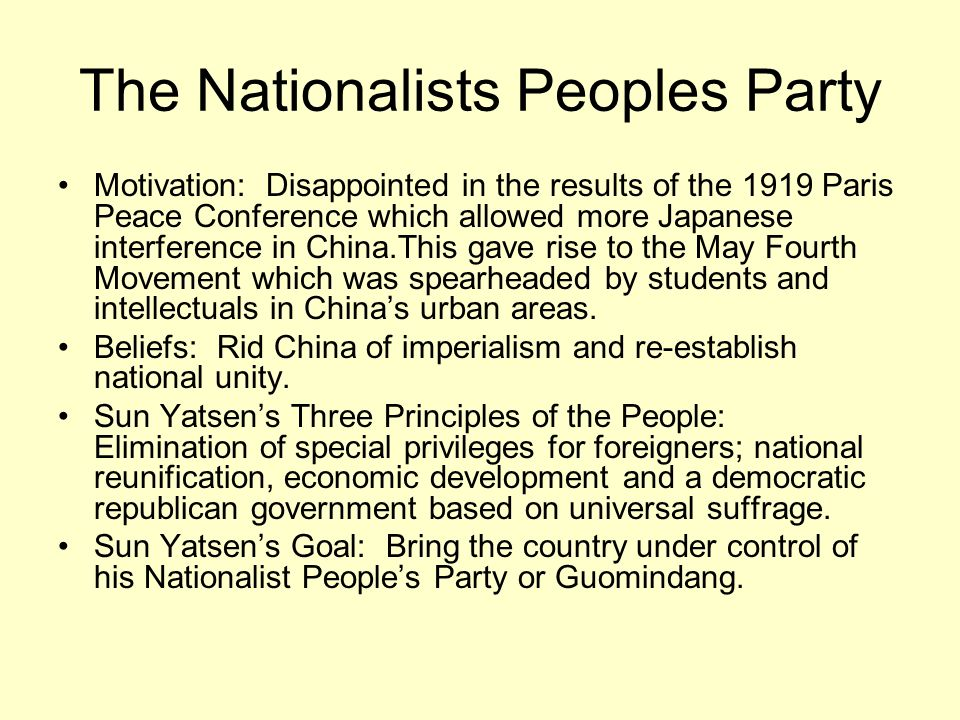 The Nationalists Peoples Party