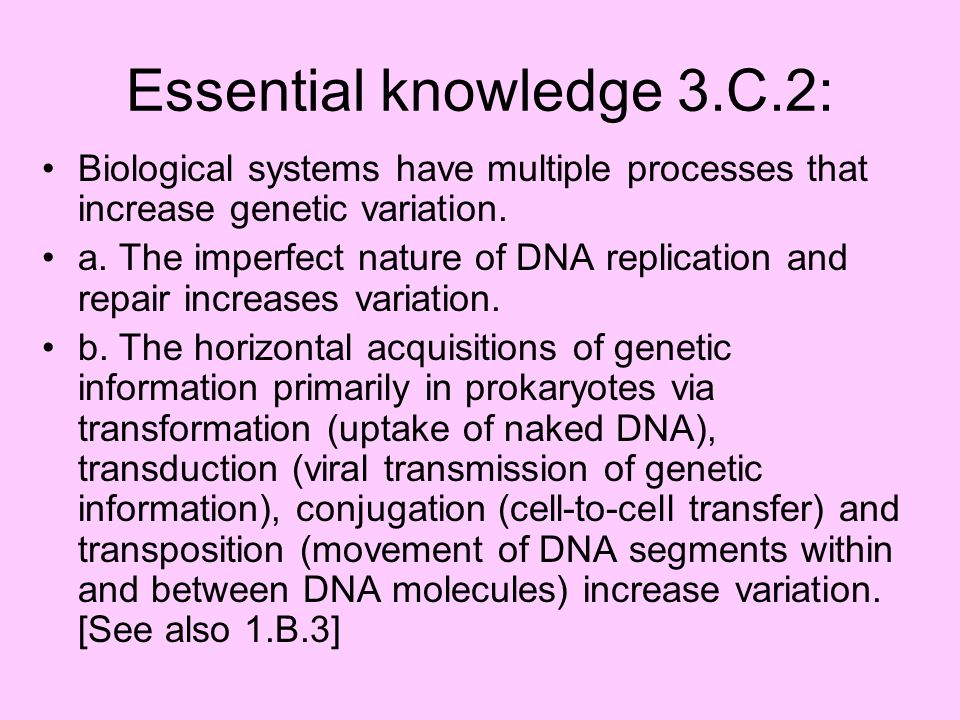 Essential knowledge 3.C.2: