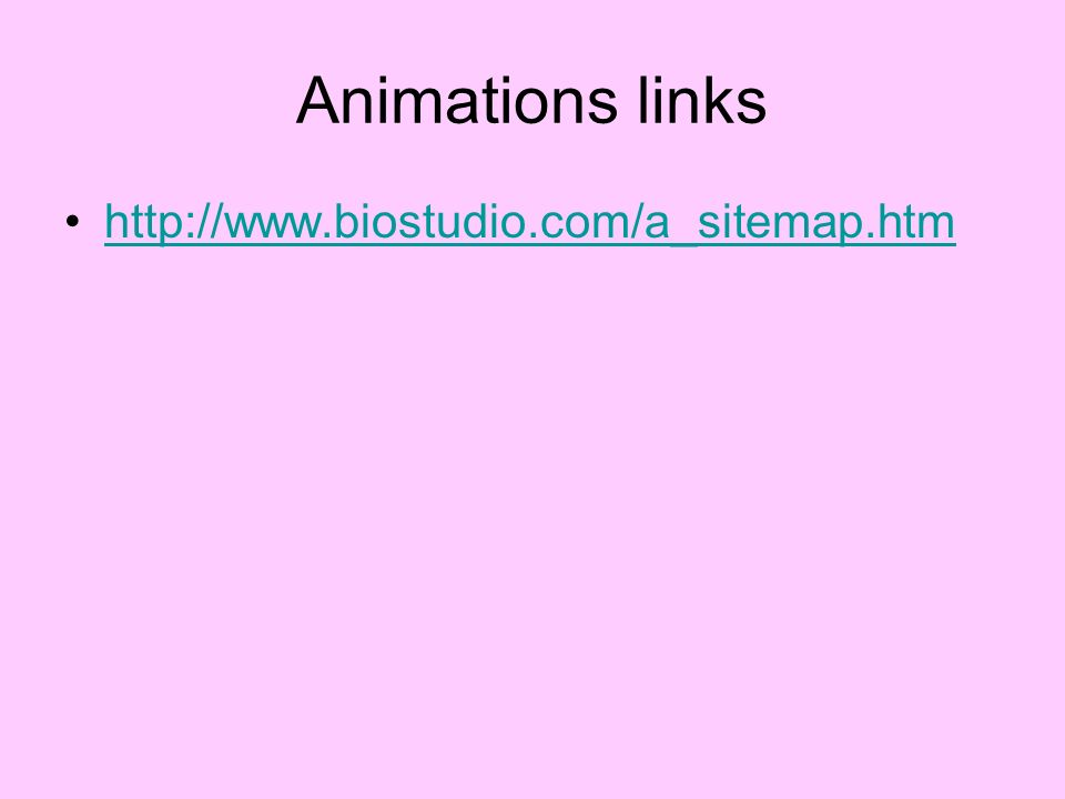 Animations links http://www.biostudio.com/a_sitemap.htm
