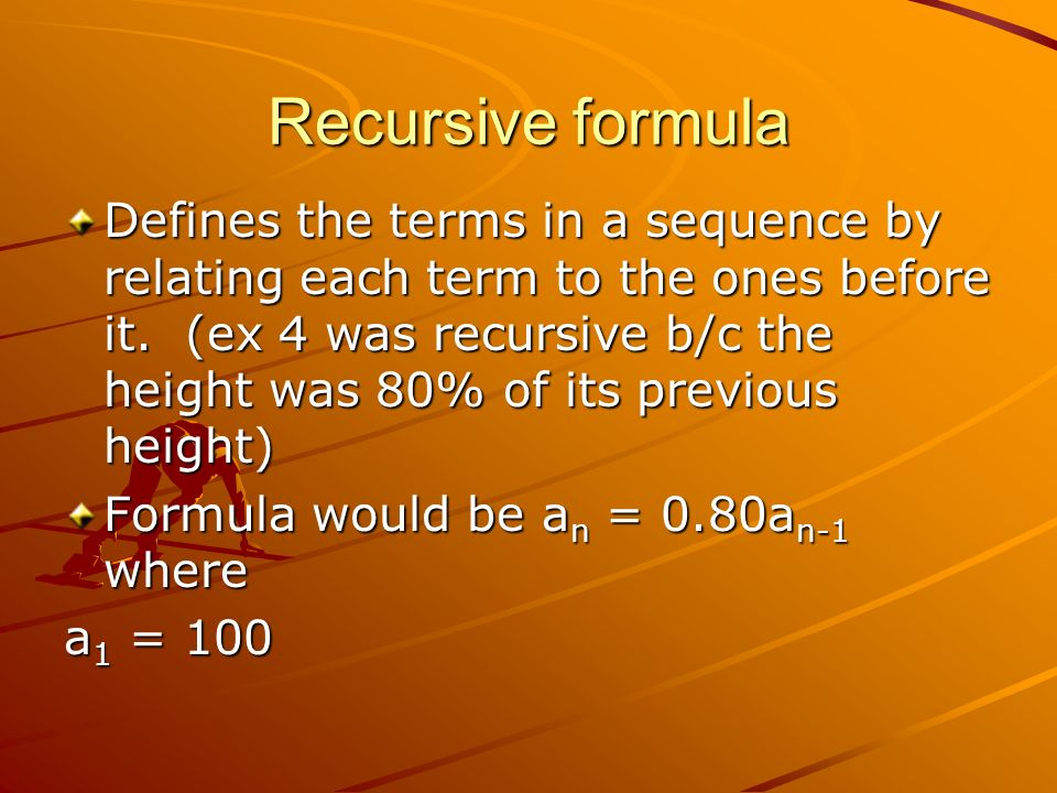 Recursive formula