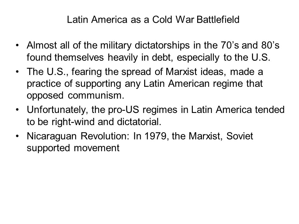 Latin America as a Cold War Battlefield