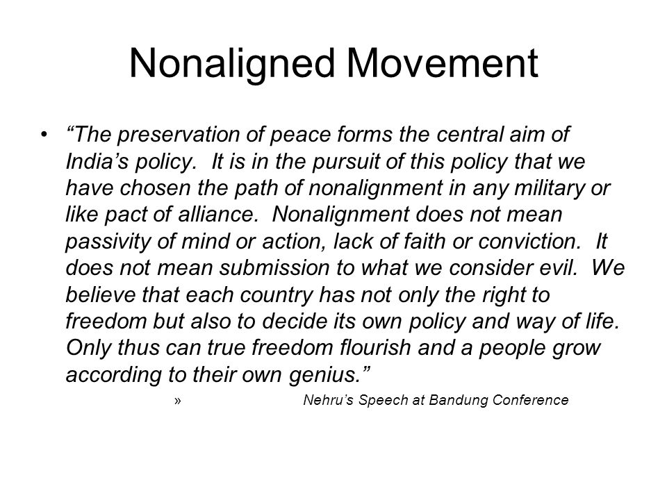 Nonaligned Movement