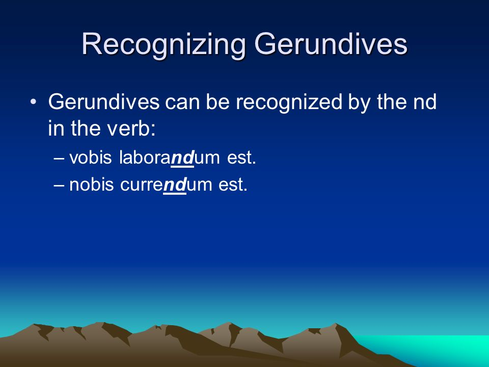 Recognizing Gerundives