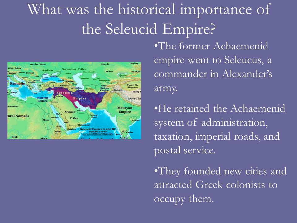 What was the historical importance of the Seleucid Empire
