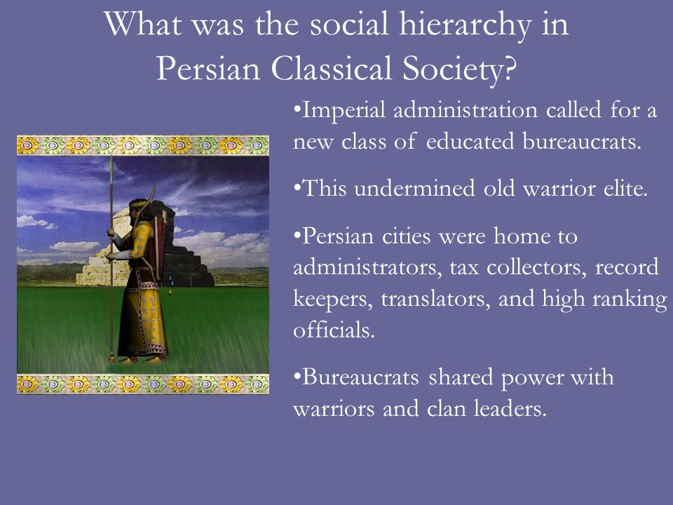 What was the social hierarchy in Persian Classical Society