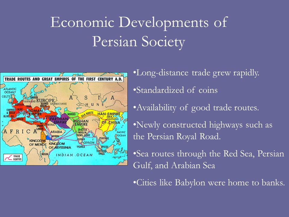 Economic Developments of Persian Society