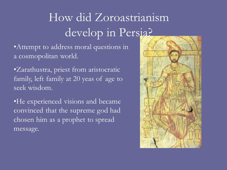 How did Zoroastrianism develop in Persia