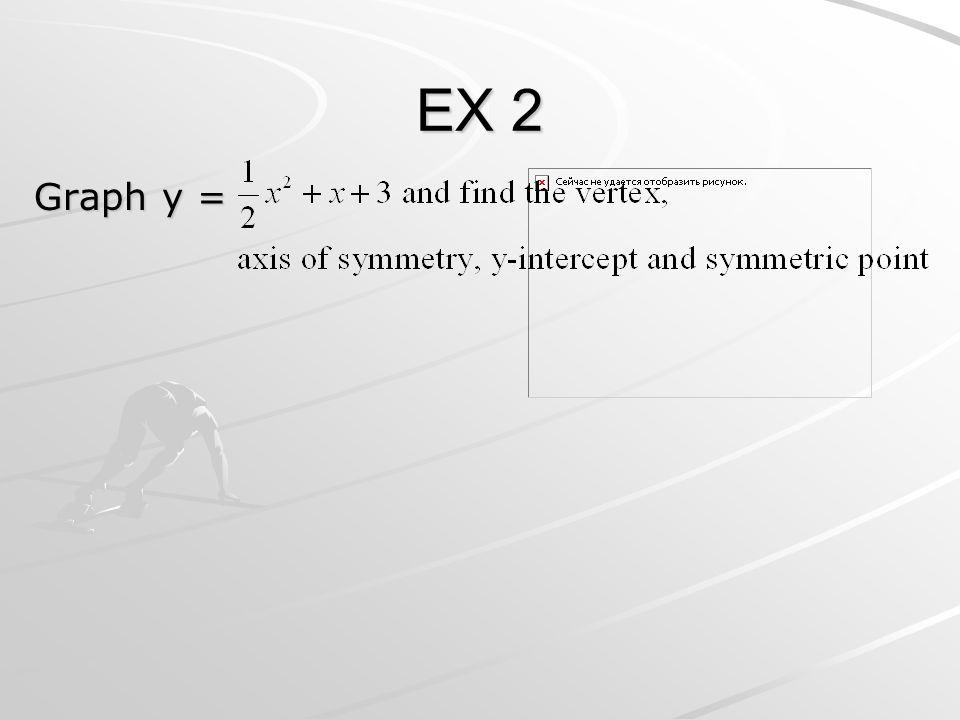 EX 2 Graph y =