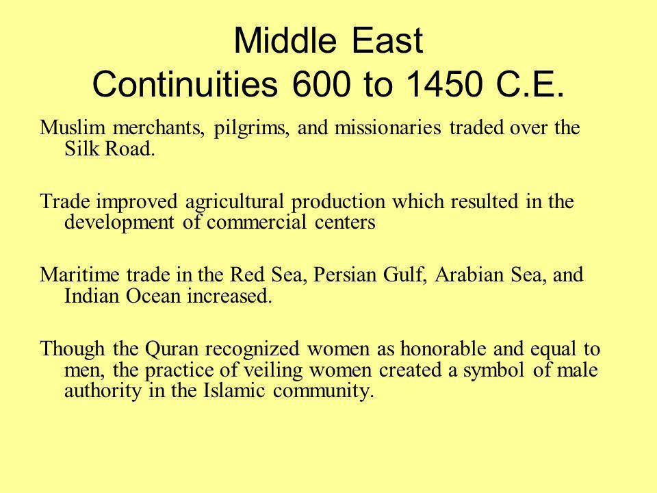 changes and continuities essay on the silk trade route from 500bce 1450 ce