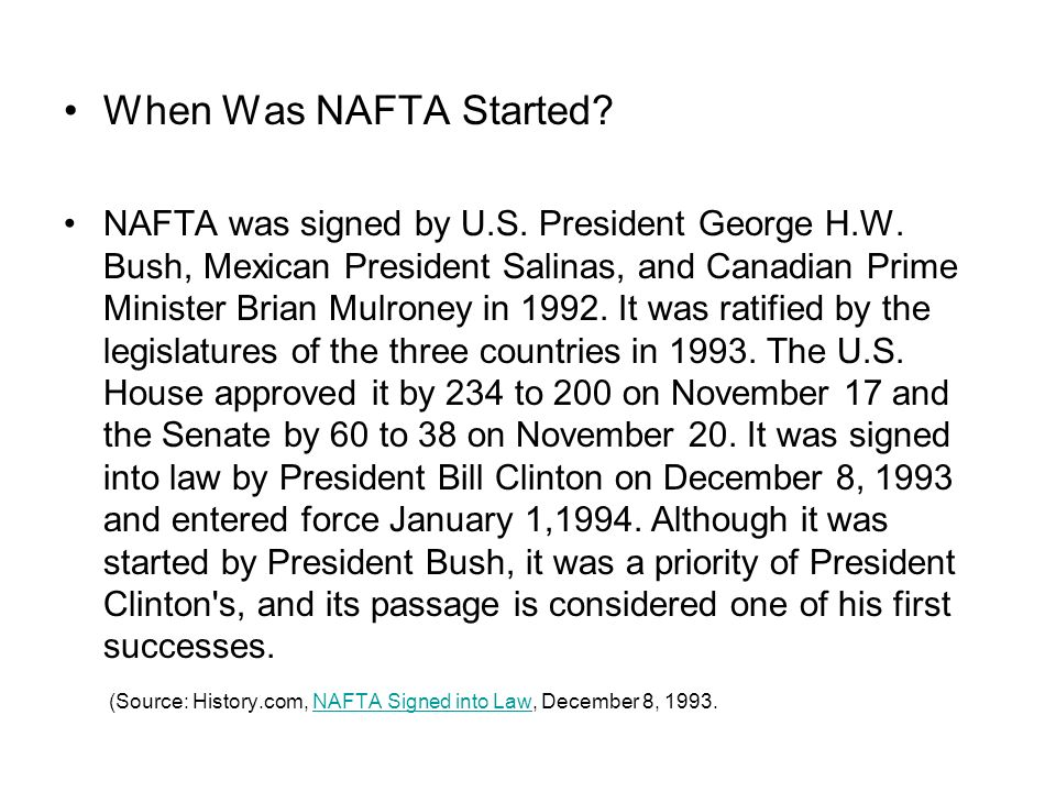 What is nafta nafta is short for the north american free trade when was nafta started platinumwayz