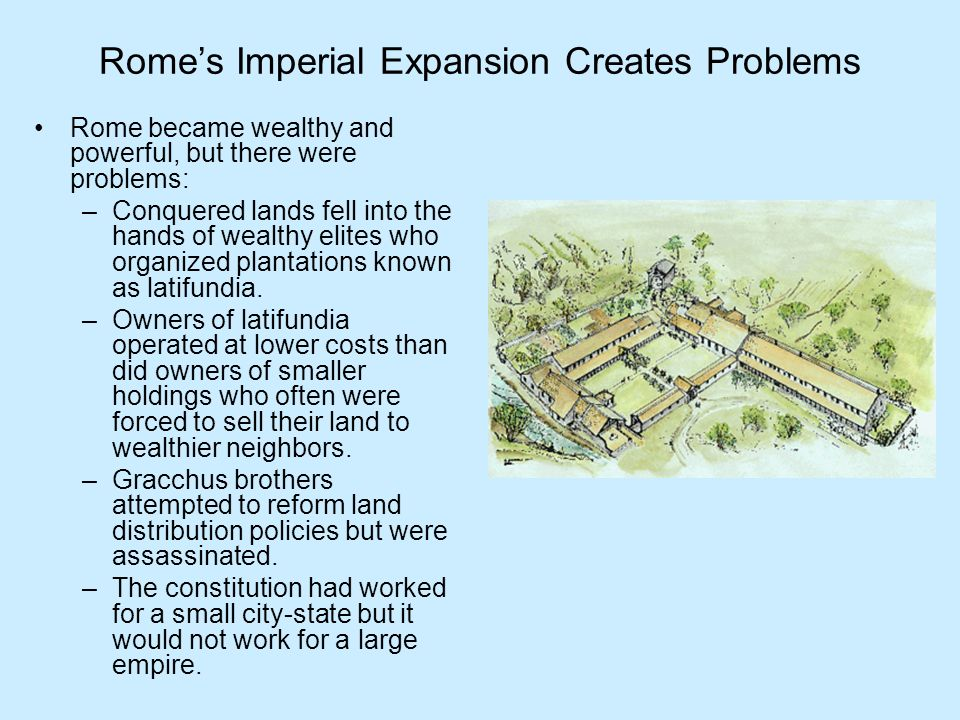 Rome's Imperial Expansion Creates Problems