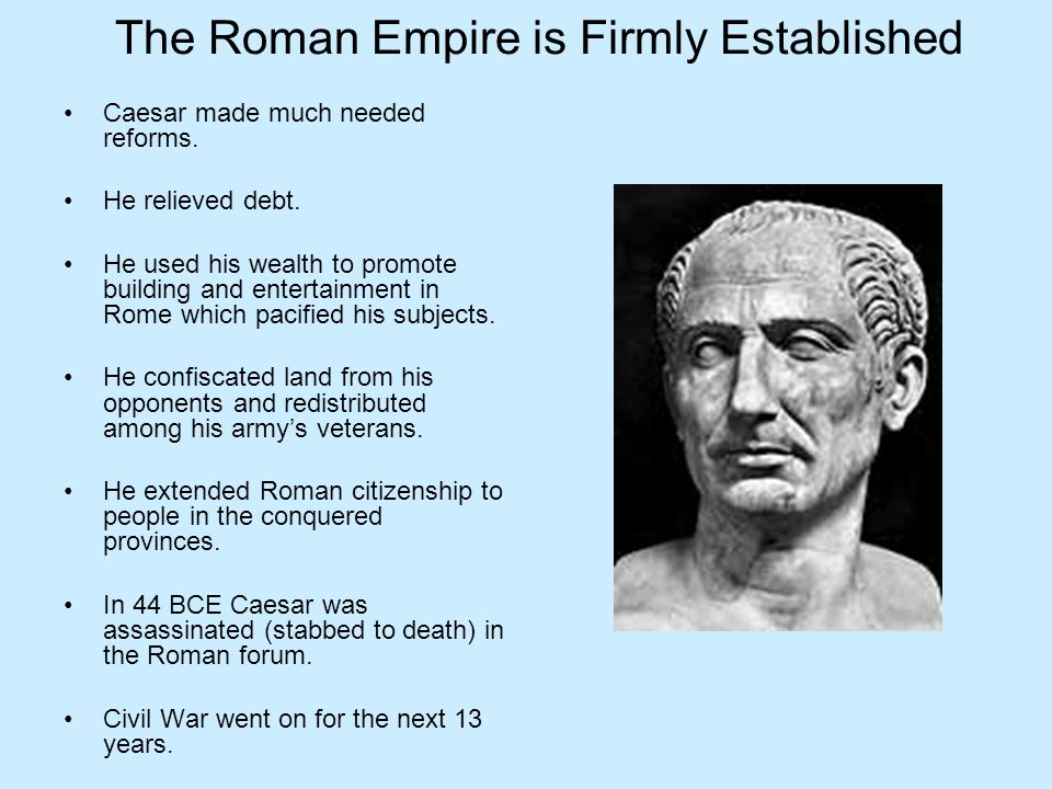 The Roman Empire is Firmly Established