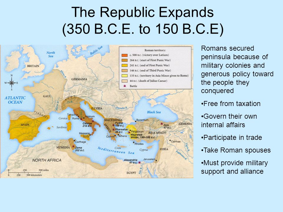 The Republic Expands (350 B.C.E. to 150 B.C.E)