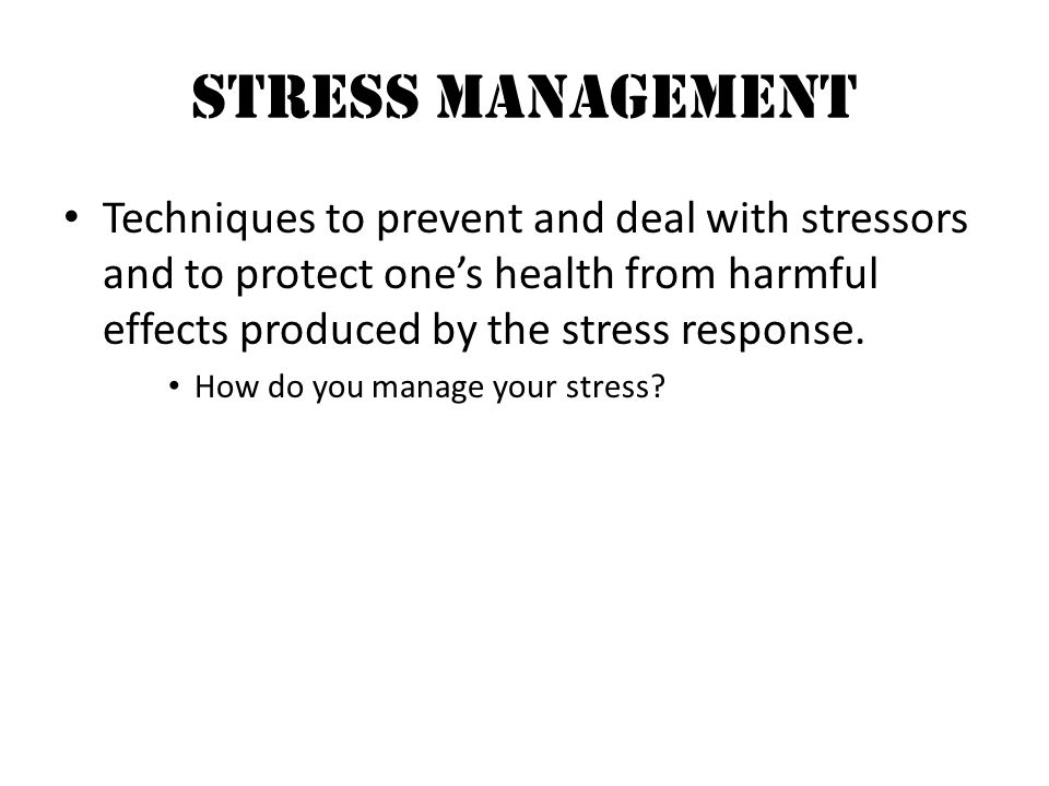 The Benefits of Stress Management for Employees
