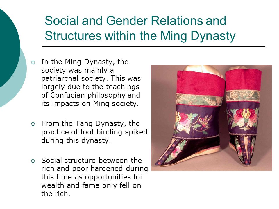 Social and Gender Relations and Structures within the Ming Dynasty