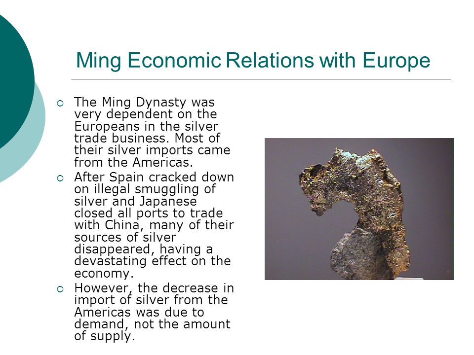 Ming Economic Relations with Europe
