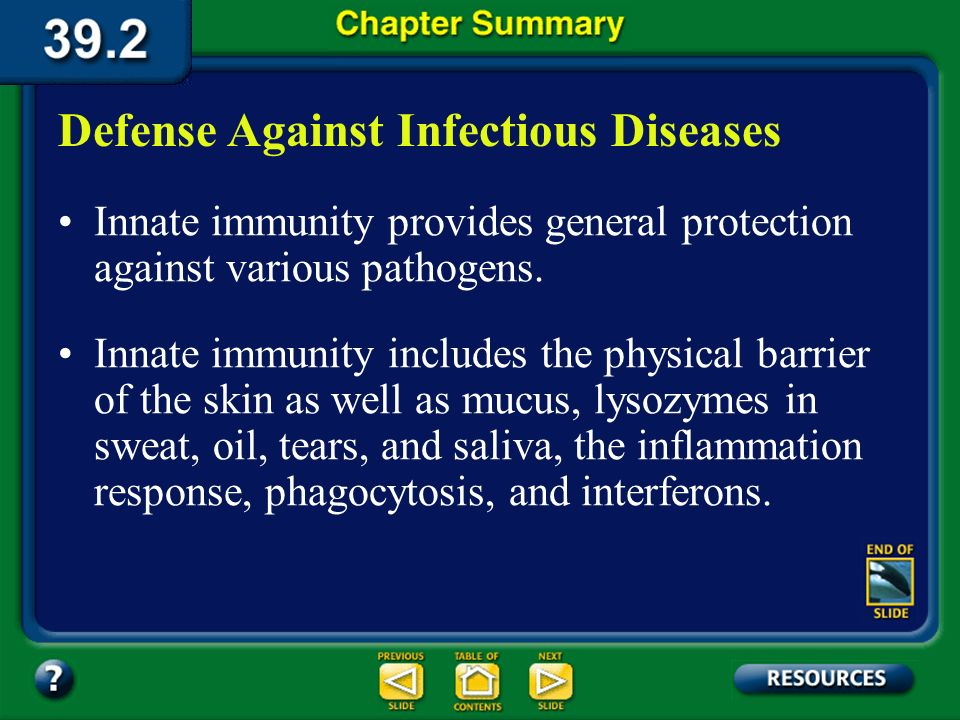 Defense Against Infectious Diseases