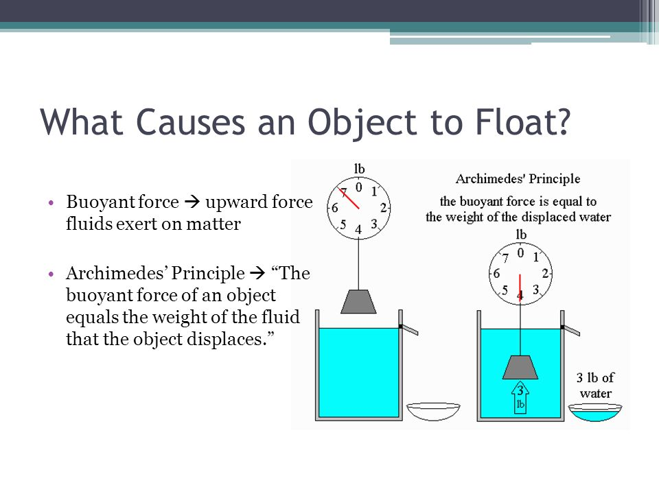 What Causes an Object to Float