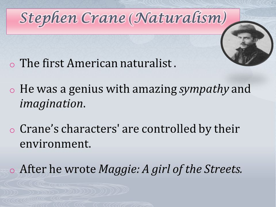 Stephen Crane S Maggie And American Naturalism