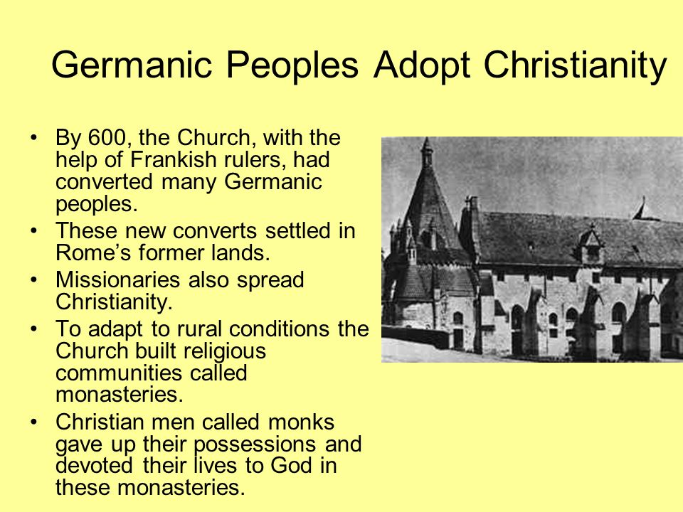 Germanic Peoples Adopt Christianity