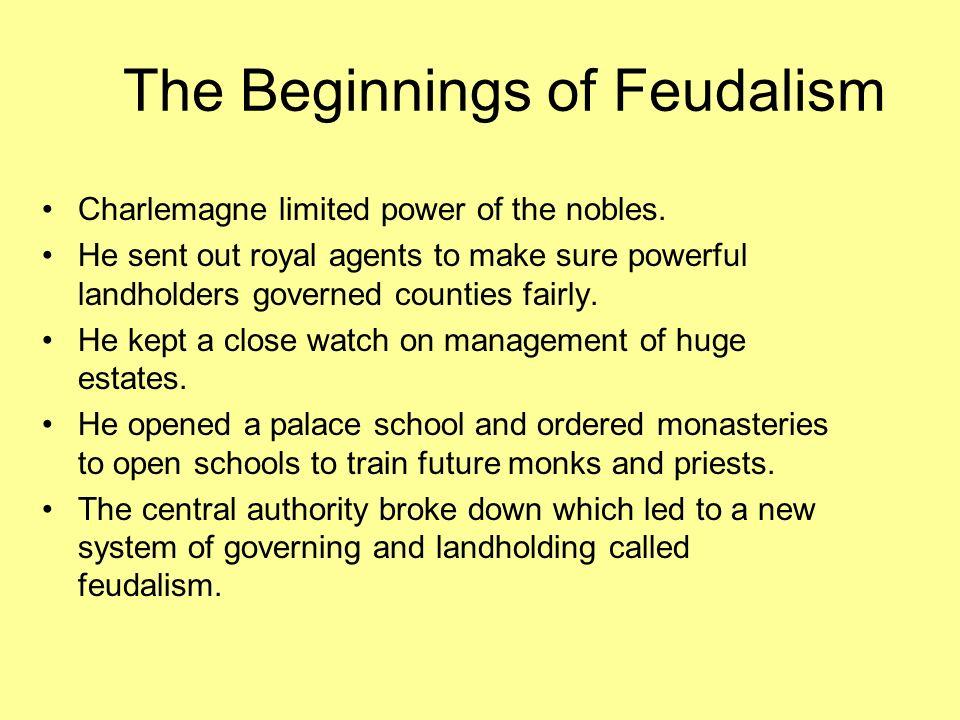 The Beginnings of Feudalism