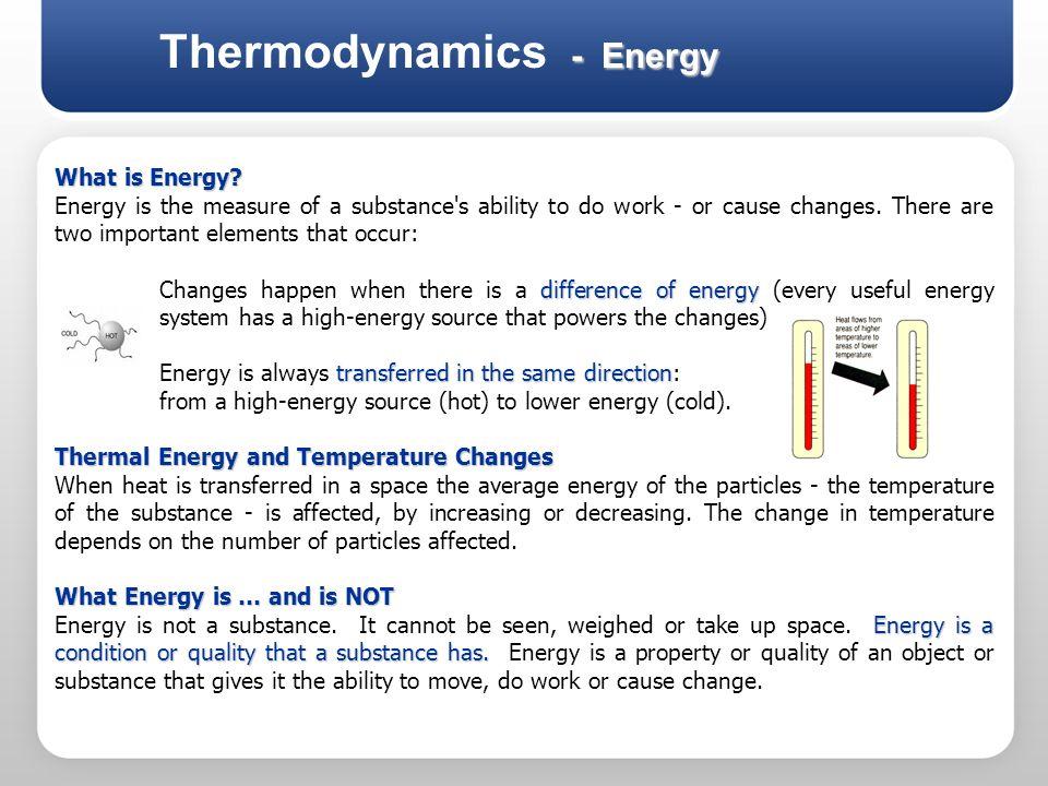 Thermodynamics - Energy