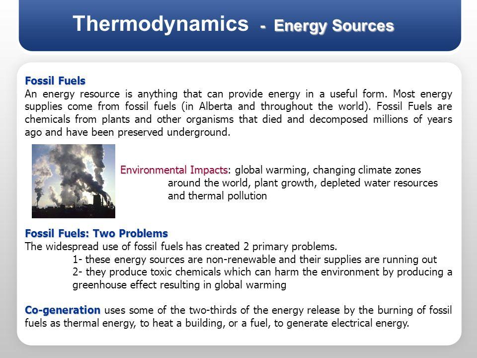 Thermodynamics - Energy Sources