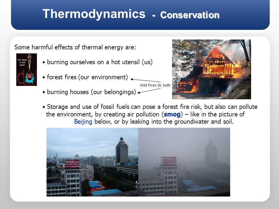 Thermodynamics - Conservation