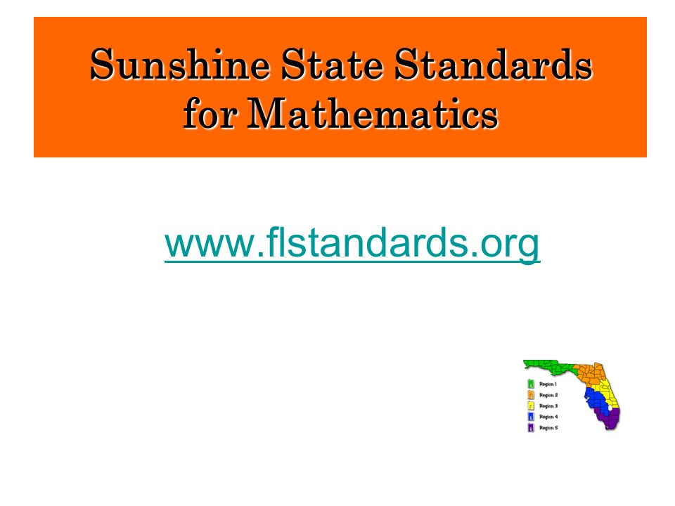 Sunshine State Standards for Mathematics