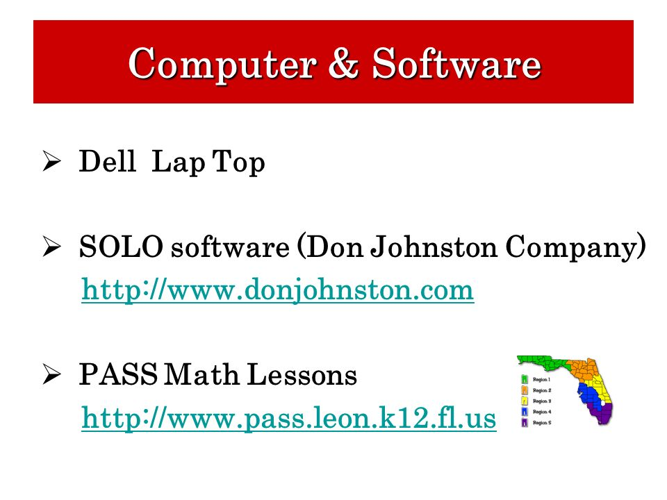 Computer & Software Dell Lap Top SOLO software (Don Johnston Company)