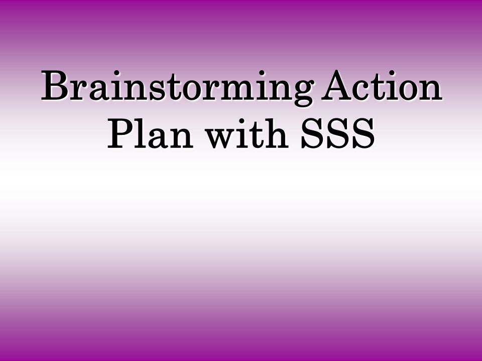 Brainstorming Action Plan with SSS