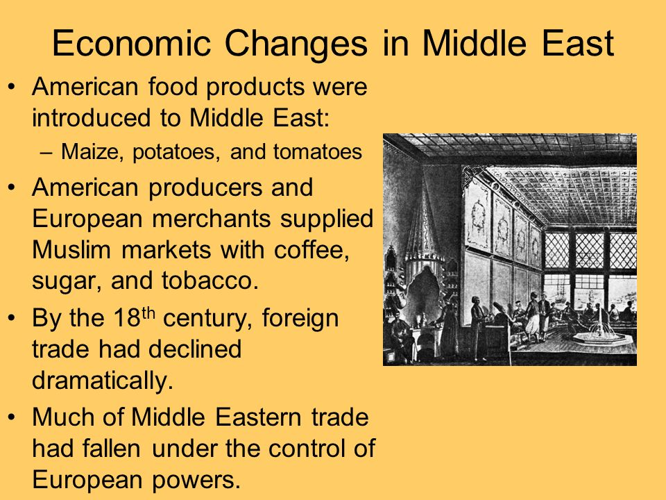 Economic Changes in Middle East