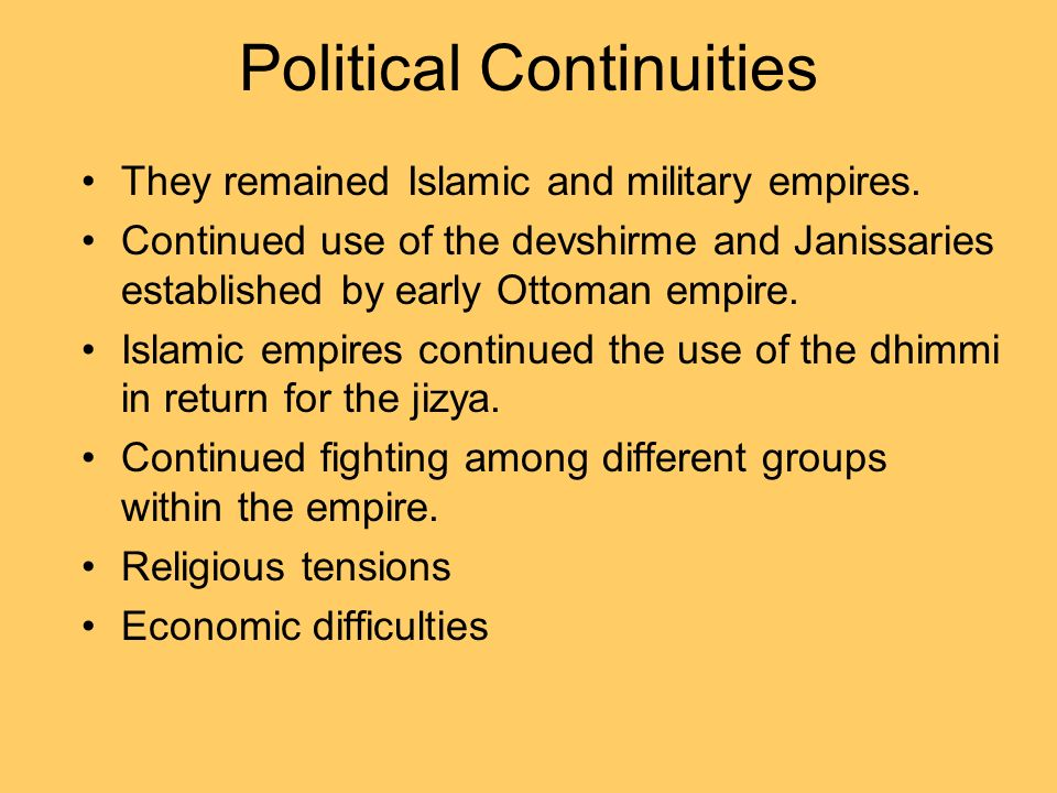 Political Continuities