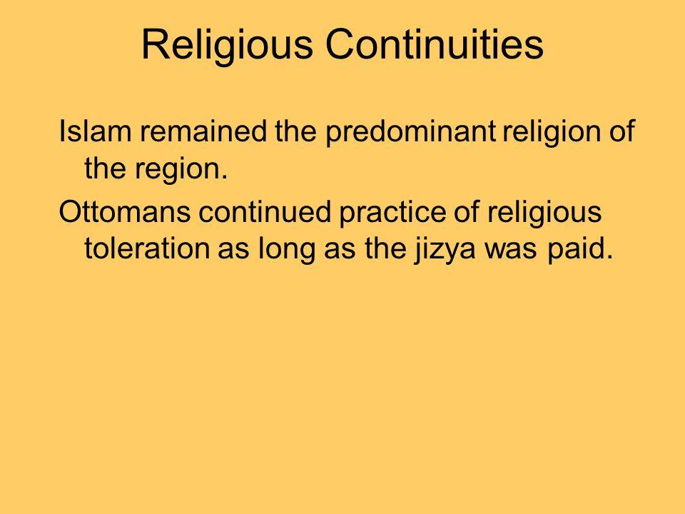 Religious Continuities