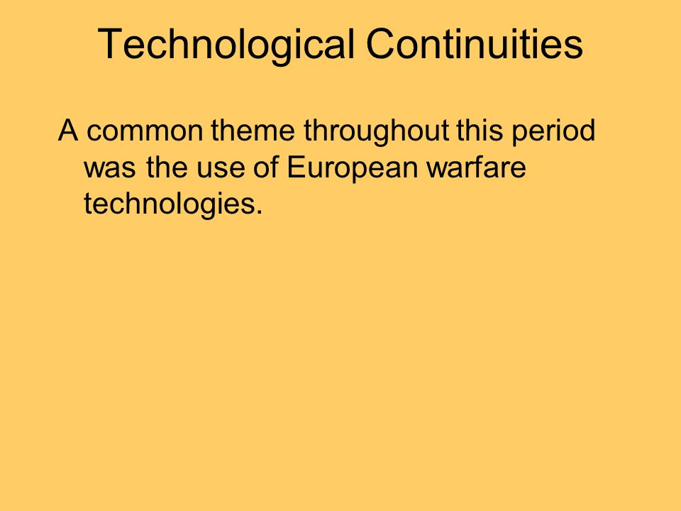 Technological Continuities