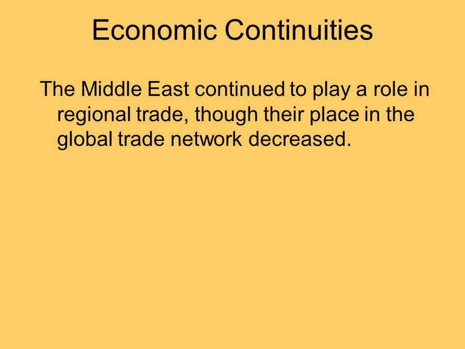 Economic Continuities