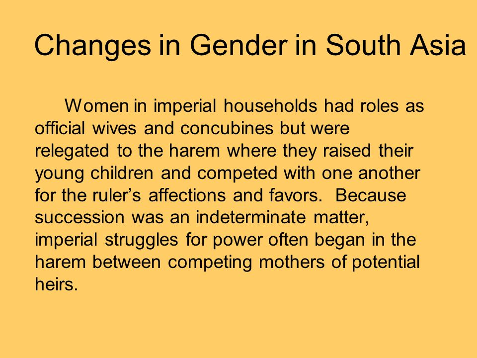 Changes in Gender in South Asia