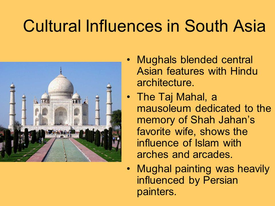 Cultural Influences in South Asia