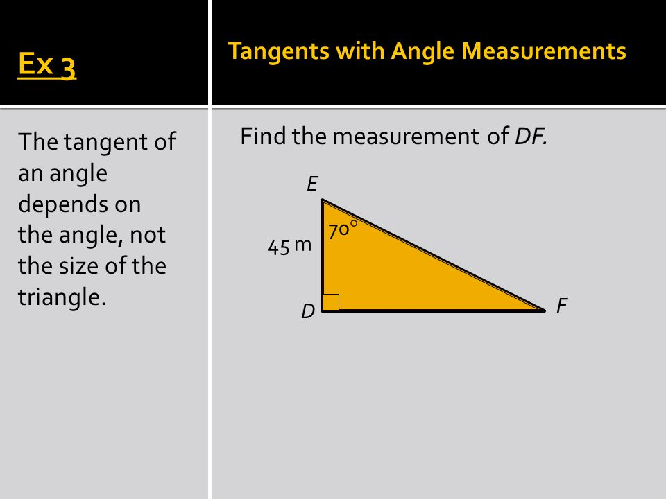 Tangents with Angle Measurements