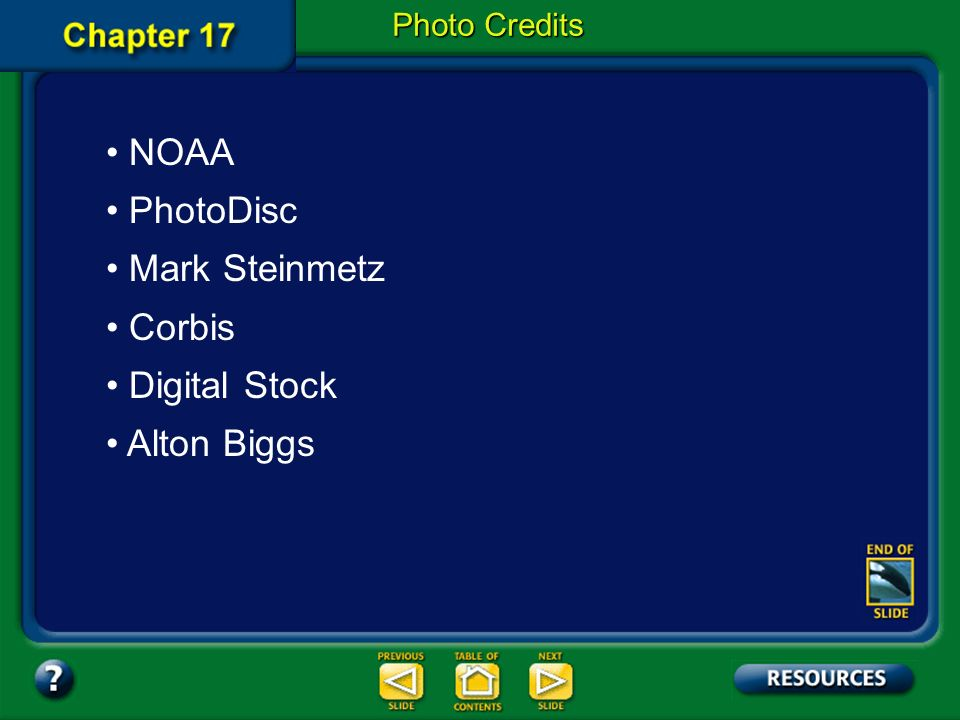 NOAA PhotoDisc Mark Steinmetz Corbis Digital Stock Alton Biggs