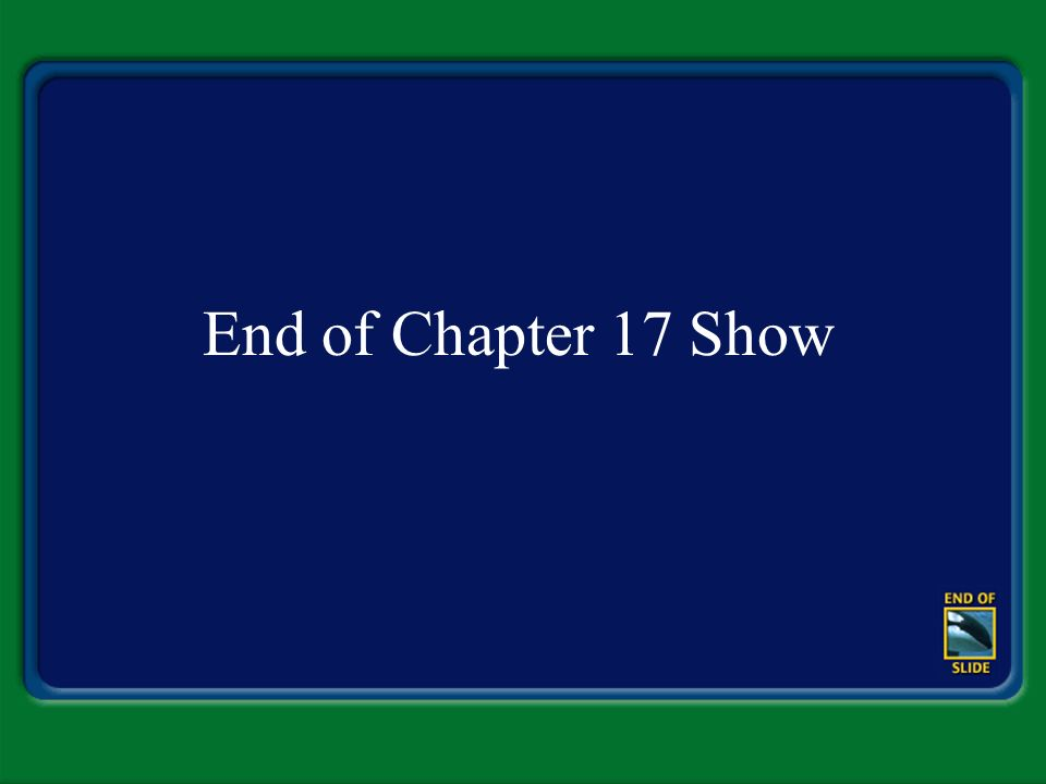 End of Chapter 17 Show
