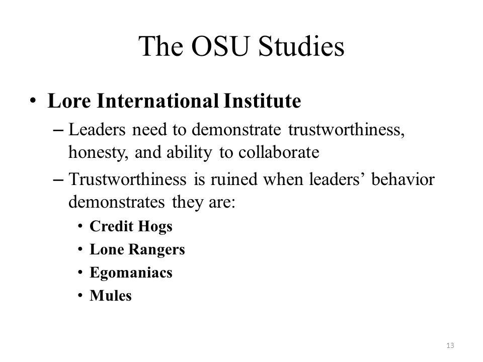 The OSU Studies Lore International Institute