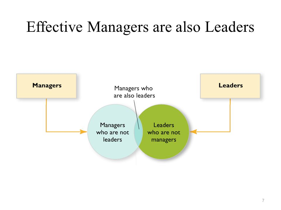 Effective Managers are also Leaders