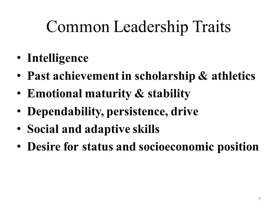 Common Leadership Traits
