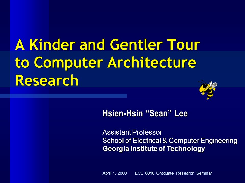 a study on computer architecture In tandem with this new reality, the overall objective of the group is to conduct  research in top-down computer architecture by designing hardware for software.