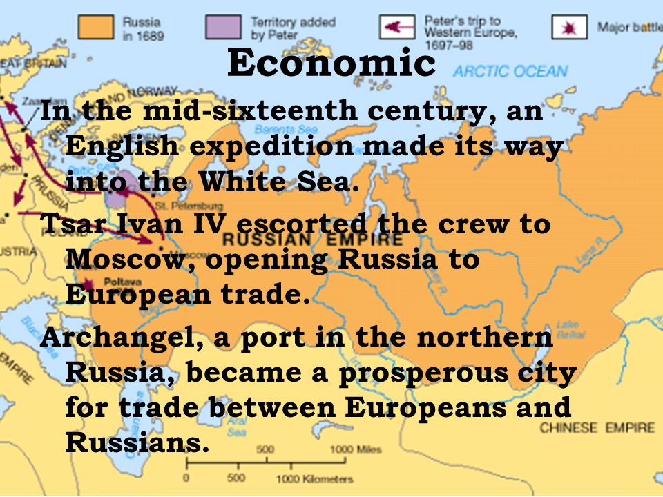 Economic In the mid-sixteenth century, an English expedition made its way into the White Sea.